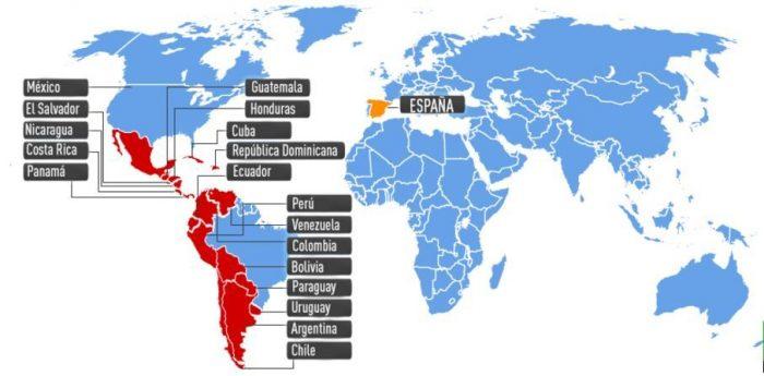 Распространение испанского языка в мире