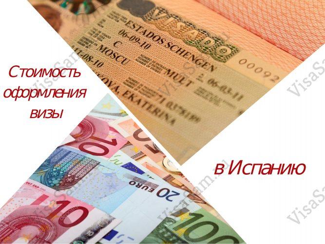 Стоимость оформления визы в Испанию