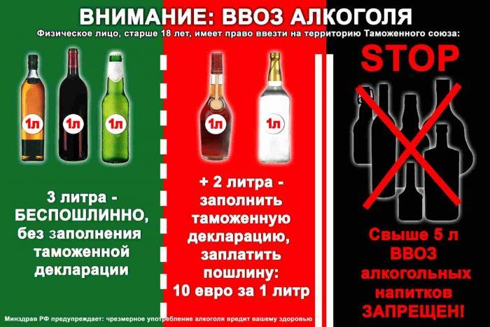 Ввоз алкоголя