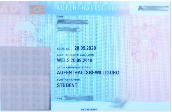 Австрийский вид на жительство