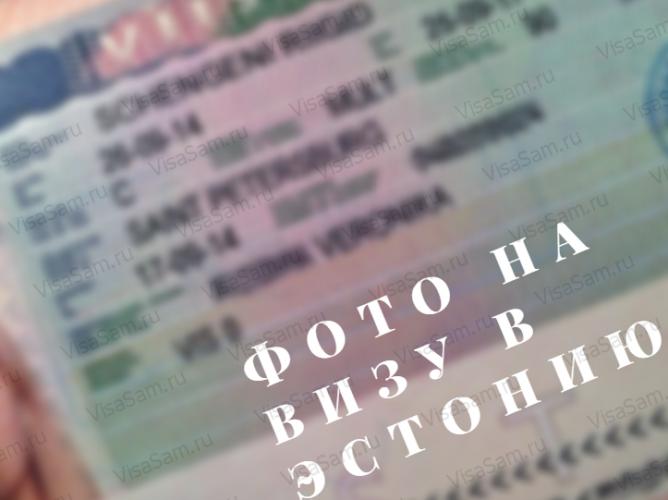 Фото на эстонскую визу