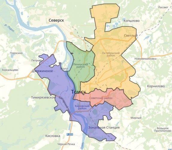 Районы Томска