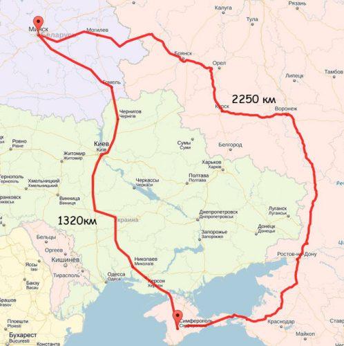В Крым из Украины