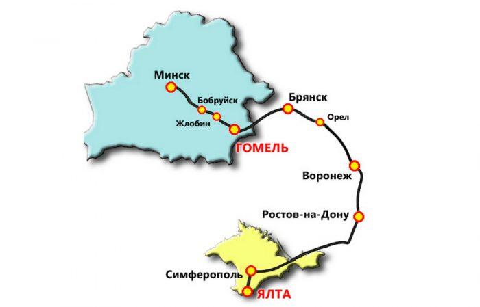 Поездка на автобусе в Крым