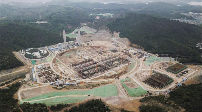 Стройка мусоросжигательного завода в Китае
