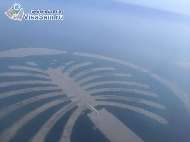 вид на Пальм-Джумейра в Дубаи