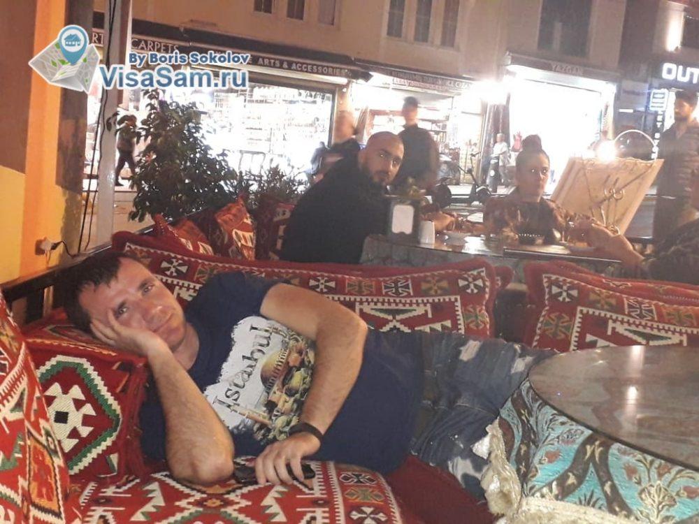 турецкие ковры в кафе