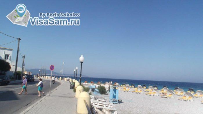 пляж в городе Родос