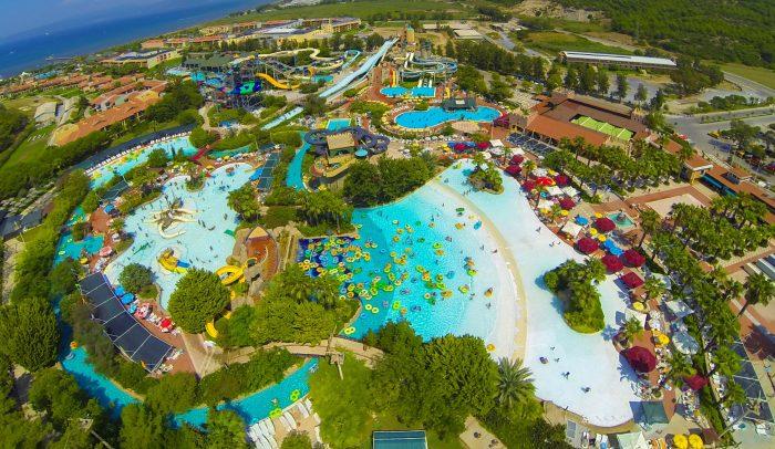 Аквапарк в пятизвездочном отели Турции