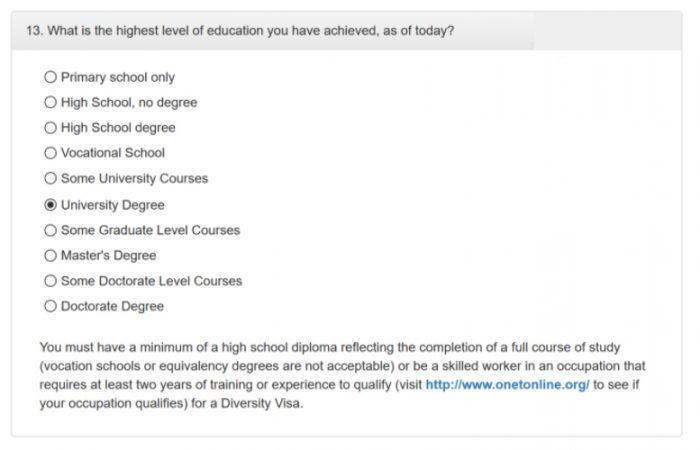 скриншот сайта dvprogram.state.gov