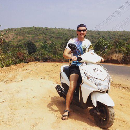 поездка на скутере