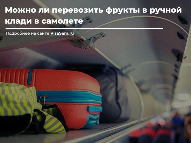 Провоз фруктов в ручной клади в самолете
