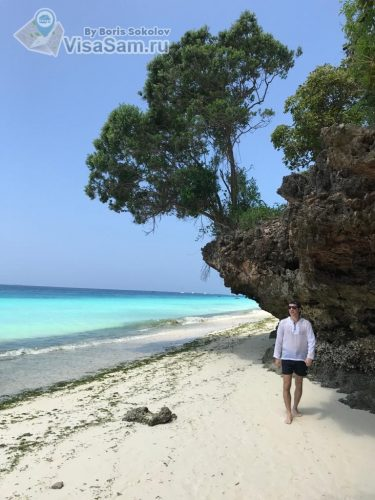 дорога по пляжу от Нунгви до Кендва