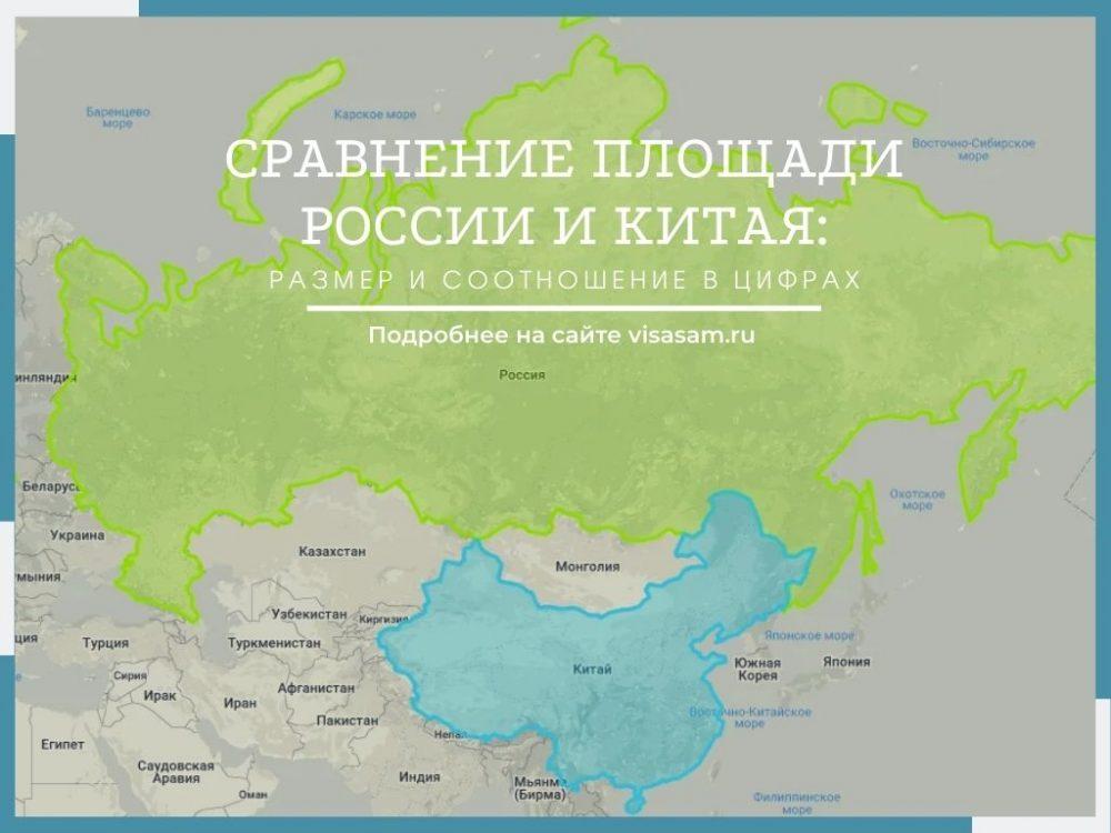 Площадь России и Китая