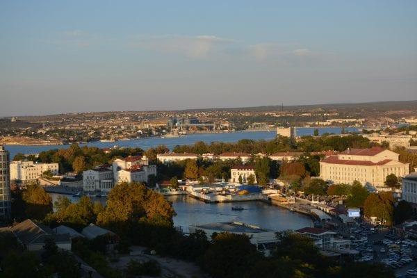 вид на осенний Севастополь
