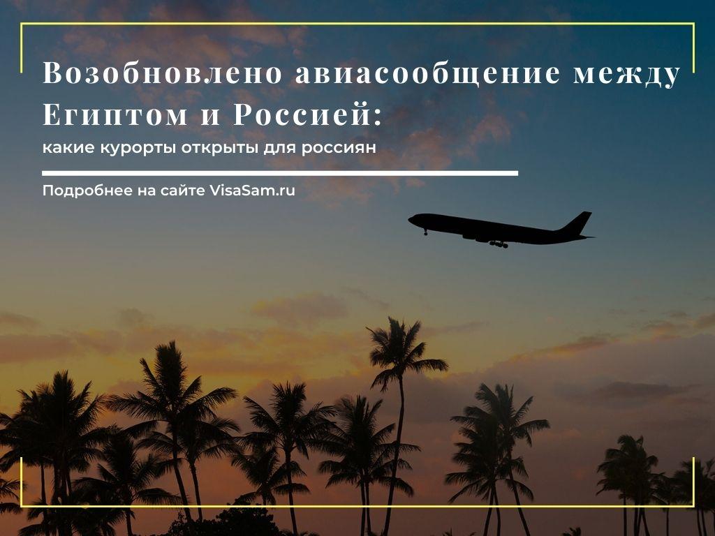 Авиасообщение между Россией и Египтом в 2021 году: последние новости
