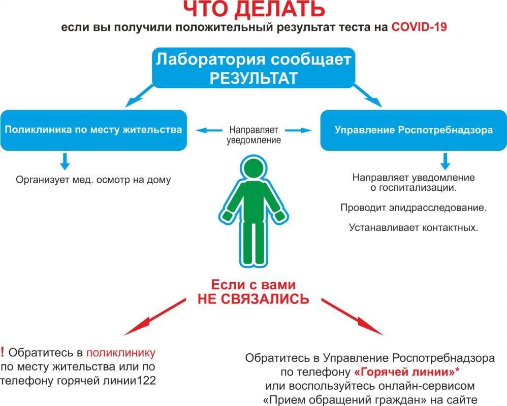 Положительный тест на коронавирус