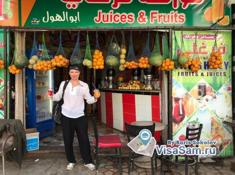 Ларек с фруктами в Каире