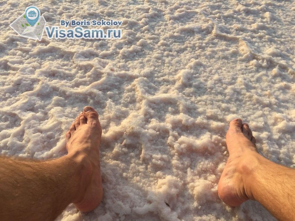 соленое озеро высохло